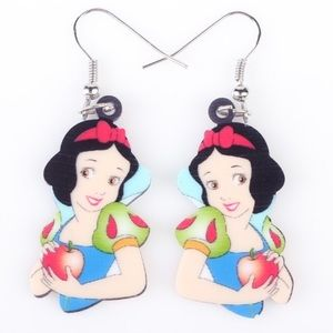 Snow White Acrylic Earrings